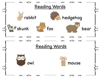 Student Guided Reader: The Mitten (A Sight Word Version)