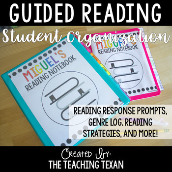Student Guided Reading Binder and Notebook Organization Kit - Distance Learning