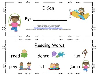 Student Guided Reading Book: I Can
