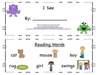 Student Guided Reading Book: I See