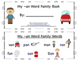 Student Guided Reading Book: My -an Word Family Book