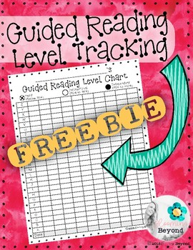 Student Guided Reading Level Tracking | Chart for Tracking Student Progress!