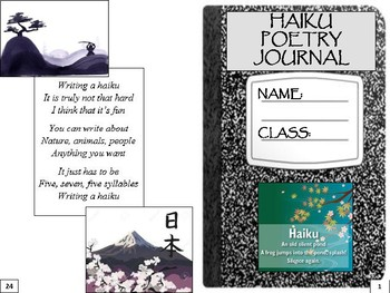 Haiku Poetry Writing Journal