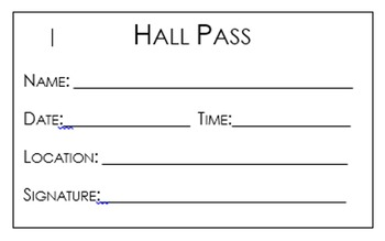 Student Hall Pass - Gandalf Theme