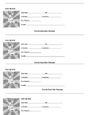 Student Hall Passes Template
