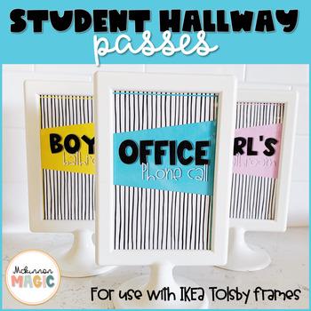 Student Hallway Passes