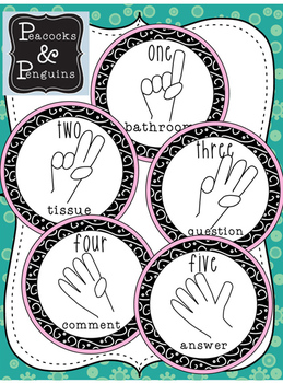 Student Hand Signal Communication posters