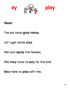 Student Handbook for Vowel Digraphs and Other Long Vowel Sounds