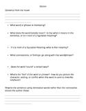 Student Handout:  Diction