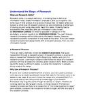 Student Handout - Understanding the Research Process