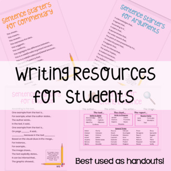 Student Handout: Writing Resources