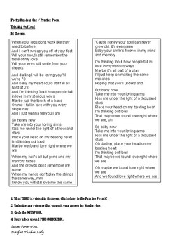 Student Handouts for Poetry Unit