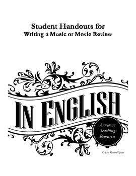 Student Handouts for Writing Music or Movie Reviews