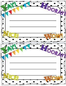 Student Happy Note