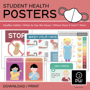 Student Health Posters  - General Health Topics (Elementary)