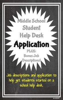 Student Help Desk Application & Job Descriptions
