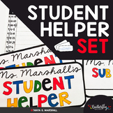 Student Helper Desk Plates and Checklist