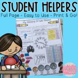 Student Helpers!