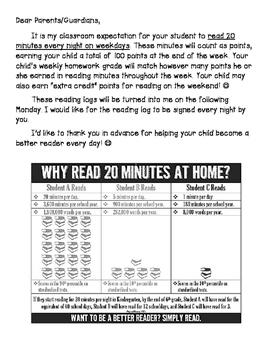 Student Home Reading Log