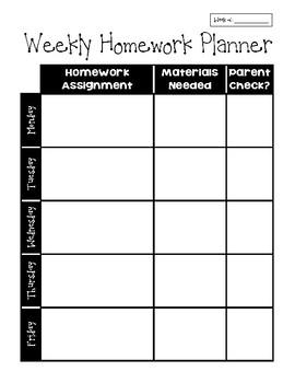Student Homework Planner and Organizer!