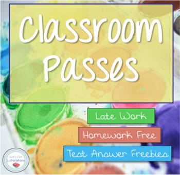 Late work teaching resources teachers pay teachers classroom passes for homework tests late work fandeluxe Gallery