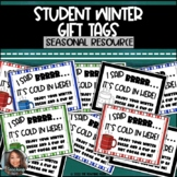 Student Hot Chocolate Gift Tags | Winter Holiday Theme