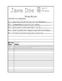 Student IEP Goal Folder