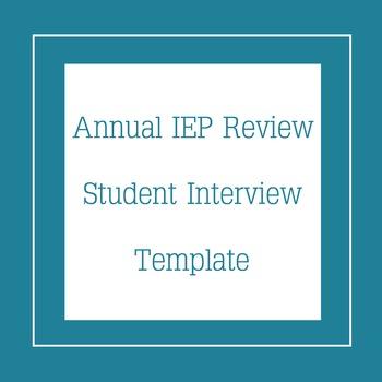 Student IEP Interview Template