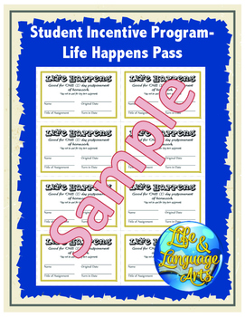 Student Incentive Program- Life Happens Pass