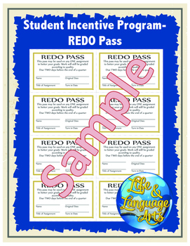Student Incentive Program- REDO Pass