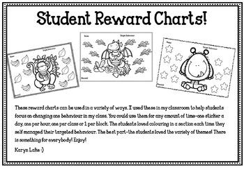 Student Incentive Reward Behaviour Charts