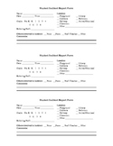 Student Incident Report Form