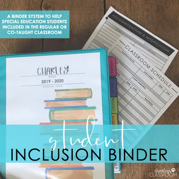 Student Inclusion Binder (Special Education)