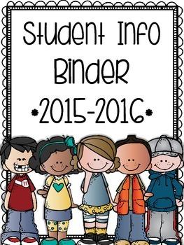 Student Info Binder