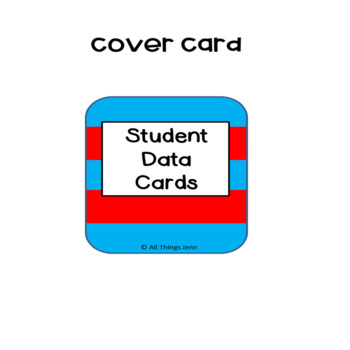 Student Info Cards- Seuss Inspired
