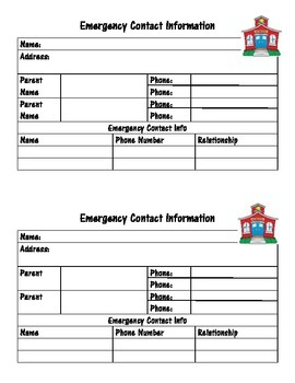 Student Info Emergency Contact