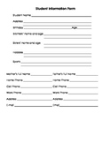 Student Info Form