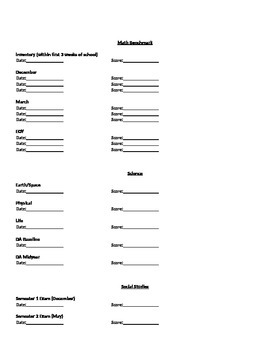Student Info Sheet