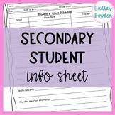 Student Info Sheet-Contact Info