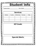 Student Info Sheets (Editable)