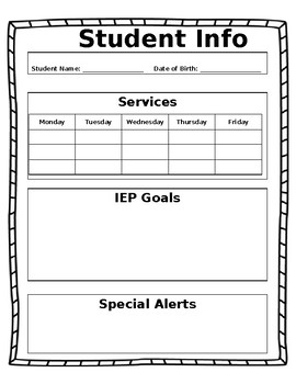 Student Info Sheets (Editable)