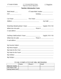 Student Infomation Sheet, Contact Log, Consequence Log