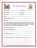 Student Information Back to School Feedback Form