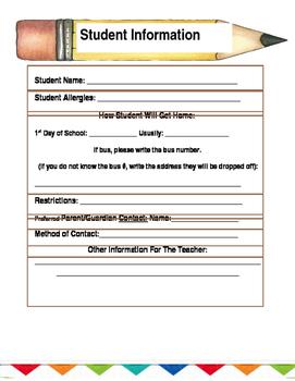 Student Information Basics