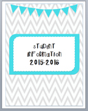 Student Information Binder Cover
