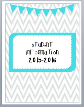 Student Information Binder Cover