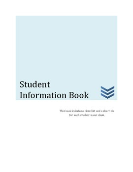 Student Information Book