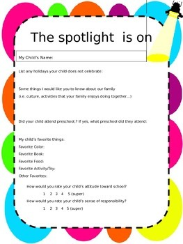 Student Information- Bright Dots Theme