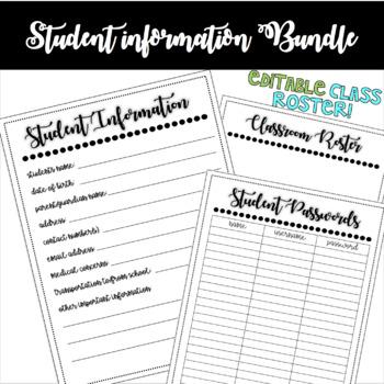 Student Information Bundle