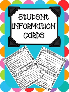 Student Information Card